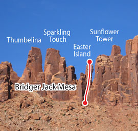 Thunderbolts, Desert Towers Route Photo