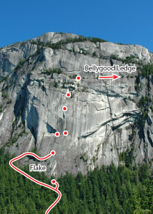 Grand Wall, Squamish Route Photo