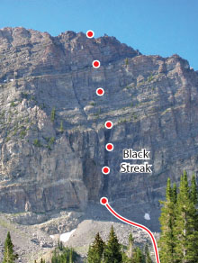 Black Streak, Wasatch Range Route Photo