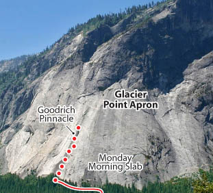 Goodrich Pinnacle Right Side, Yosemite Route Photo