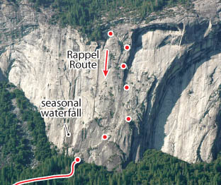 Royal Arches, Yosemite Route Photo