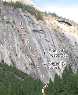 Serenity Crack, Yosemite Route Photo